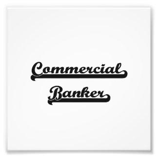 Commercial Banker Classic Job Design Photo Print