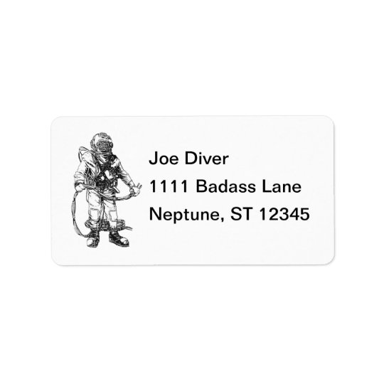Commercial Diving Mailing Label Address Label