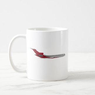 Commercial Jet Airplane: 3D Model: Basic White Mug
