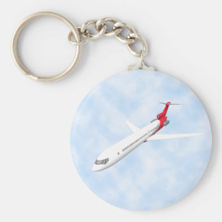 Commercial Jet Airplane 3D Model Key Chain