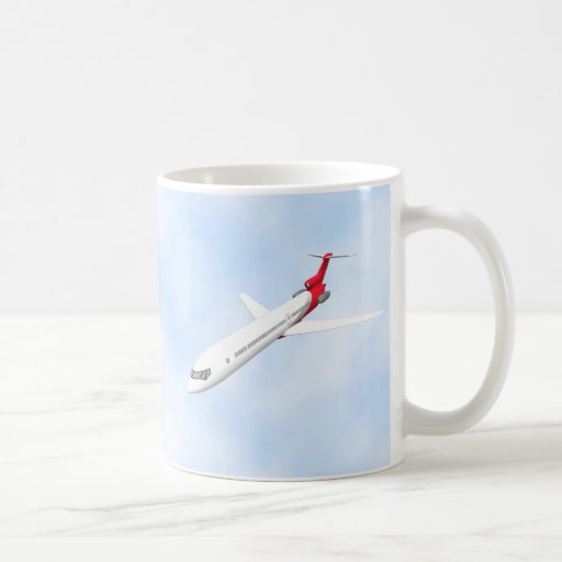 Commercial Jet Airplane: 3D Model: Coffee Mug