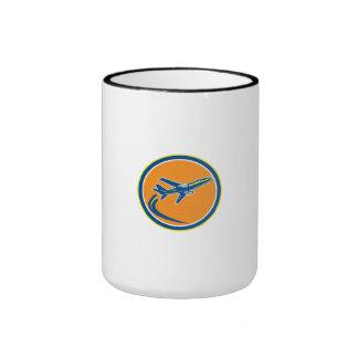 Commercial Jet Plane Airline Flying Retro Mugs