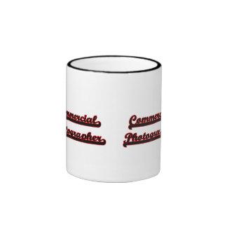 Commercial Photographer Classic Job Design Ringer Coffee Mug