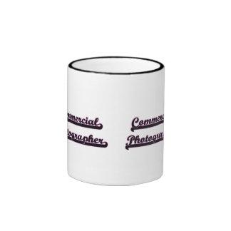 Commercial Photographer Classic Job Design Ringer Mug