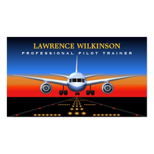 Commercial Pilot Trainer Flight Business Cards Business Card