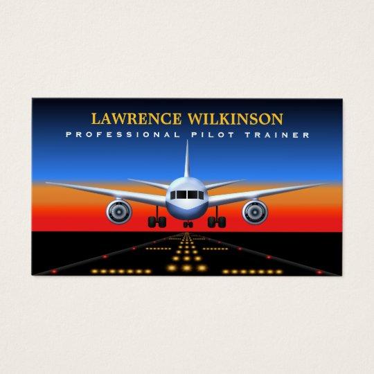 Commercial Pilot Trainer Flight Business Cards