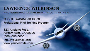 Aviation business cards business card printing zazzle uk commercial plane in sky aviation business cards colourmoves