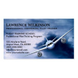 Commercial Plane in Sky Aviation Business Cards Business Card Templates