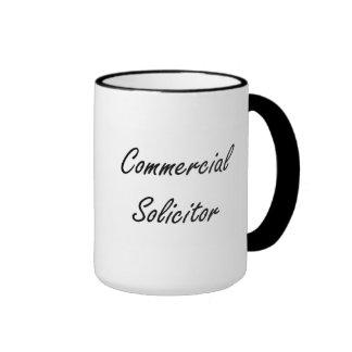 Commercial Solicitor Artistic Job Design Ringer Mug