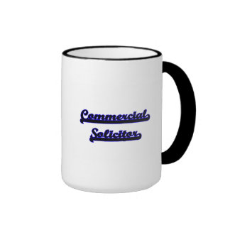 Commercial Solicitor Classic Job Design Ringer Coffee Mug
