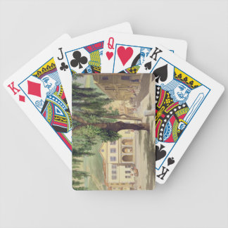 Commercial Square, the Commercial Library and the Bicycle Playing Cards