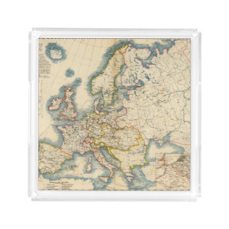 Commerciale Industrial Map of Europe Acrylic Tray
