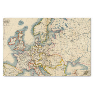 Commerciale Industrial Map of Europe Tissue Paper