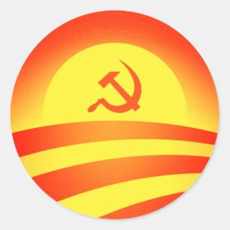 Commie Obama Logo Round Sticker