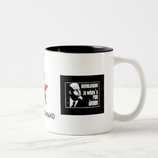 commie:revolution, commie star, commie:revoluti... Two-Tone mug