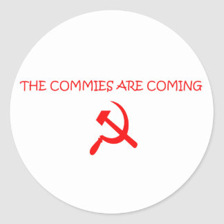 COMMIES ROUND STICKER