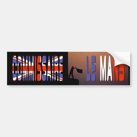 """Commissaire (UK)"" by Flagman Bumper Sticker"