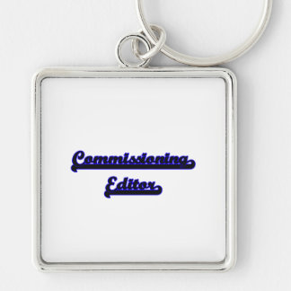 Commissioning Editor Classic Job Design Silver-Colored Square Key Ring