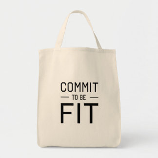 Commit to be Fit Canvas Bags