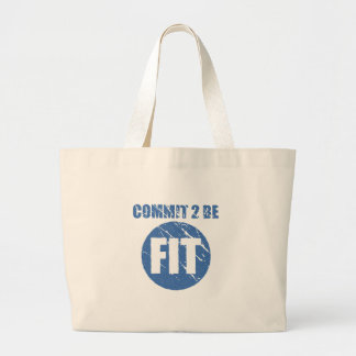 Commit to be Fit | Retro Style | CERULEAN Bag