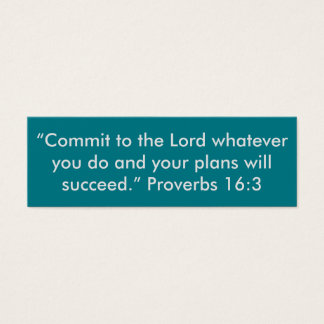 """""""Commit to the Lord"""" Little Notes Mini Business Card"""