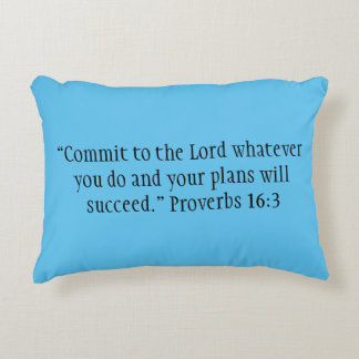 """""""Commit to the Lord"""" Scripture Accent Pillow"""