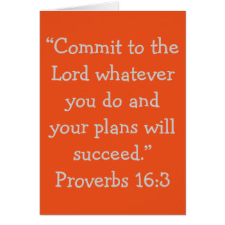 """""""Commit to the Lord"""" Scripture Greeting Card"""