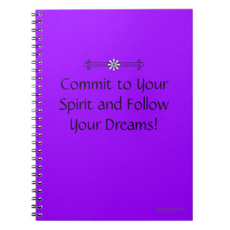 Commit to Your Spirit Spiral Notebook