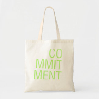 commitment budget tote bag