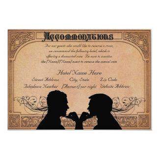 Commitment Ceremony Custom Accommodations Cards 9 Cm X 13 Cm Invitation Card