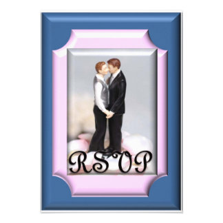 Commitment Ceremony Wedding RSVP Cards Personalized Announcement