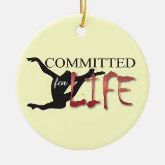 Committed for Life Gymnast or Dancer Round Ceramic Decoration