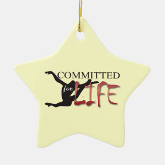 Committed for Life Gymnast or Dancer Ceramic Star Decoration