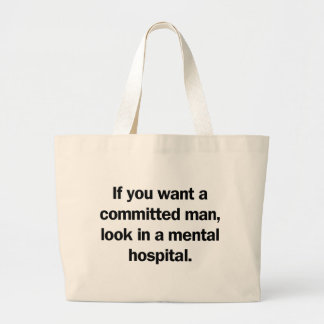 Committed Man Canvas Bag