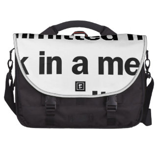 Committed Man Laptop Bag