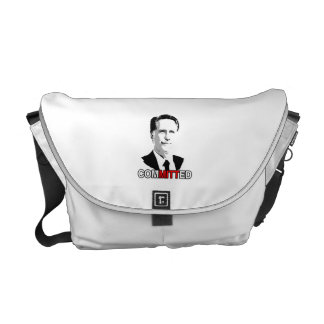 COMMITTED TO ROMNEY.png Courier Bags