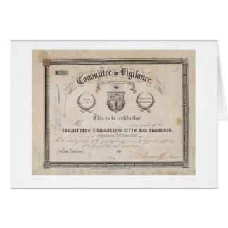 Committee of Vigilance, San Francisco (2539A) Greeting Card
