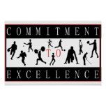 Committment To Execellence Sports Posters