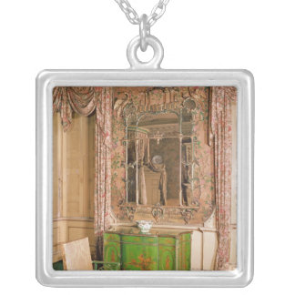 Commode and chair in the state bedchamber silver plated necklace