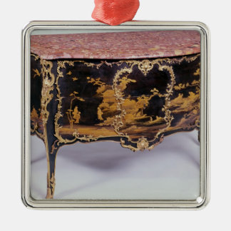 Commode, French, mid 18th century Silver-Colored Square Decoration