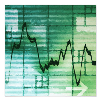Commodities Trading and Price Analysis News Art 13 Cm X 13 Cm Square Invitation Card