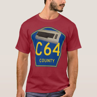 Commodore 64 C64 County T-Shirt