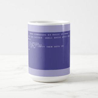 Commodore 64 Drink cofee basic program screen Basic White Mug