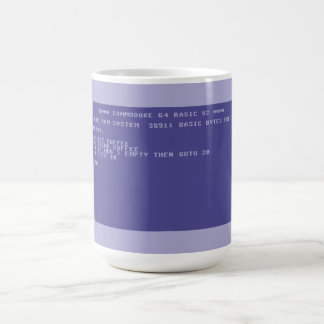 Commodore 64 Drink cofee basic program screen Coffee Mug