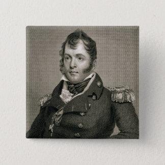 Commodore Oliver Hazard Perry (1785-1819), engrave 15 Cm Square Badge