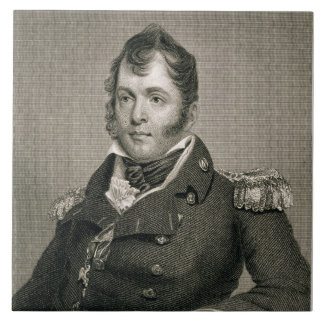 Commodore Oliver Hazard Perry (1785-1819), engrave Large Square Tile