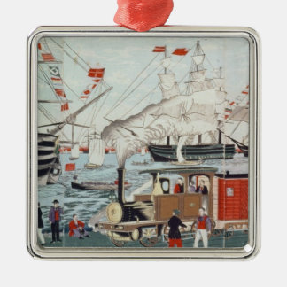 Commodore Perry's Gift of a Railway Christmas Ornament