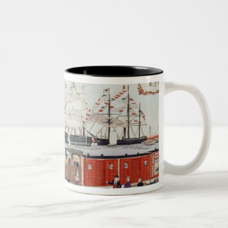 Commodore Perry's Gift of a Railway Two-Tone Coffee Mug