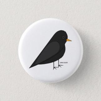Common Blackbird button