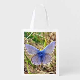 Common Blue Butterfly Reusable Bag